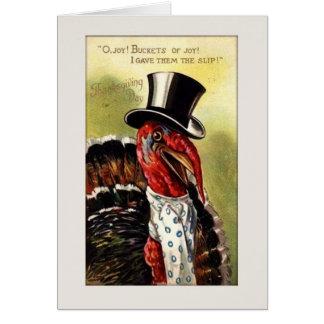 Vintage Mr. Turkey Thanksgiving Card