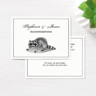 Vintage MSked Raccoon Business Card