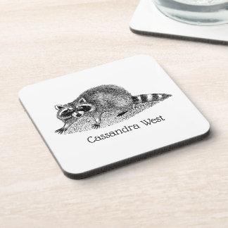 Vintage MSked Raccoon Coaster