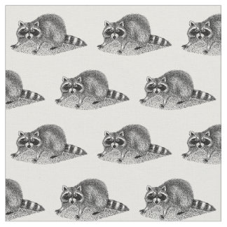 Vintage MSked Raccoon Fabric