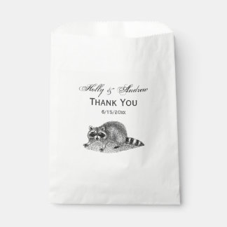 Vintage MSked Raccoon Favour Bag