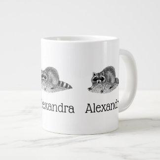 Vintage MSked Raccoon Large Coffee Mug