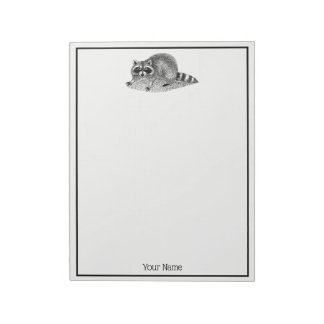 Vintage MSked Raccoon Notepad