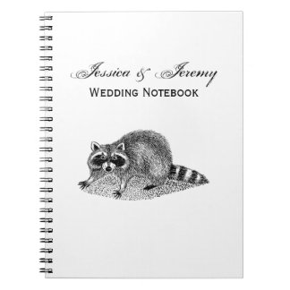 Vintage MSked Raccoon Spiral Notebook