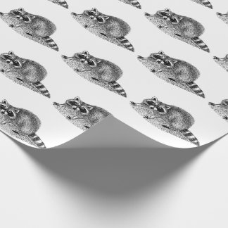 Vintage MSked Raccoon Wrapping Paper