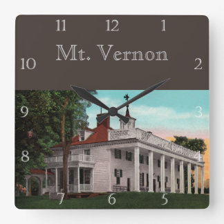 Vintage Mt. Vernon Custom Square Wall Clock