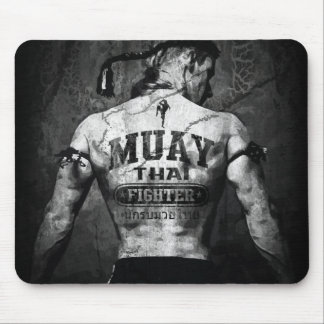 Vintage Muay Thai Fighter Mouse Pad