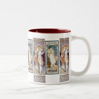 Vintage Mucha Art Nouveau Mug
