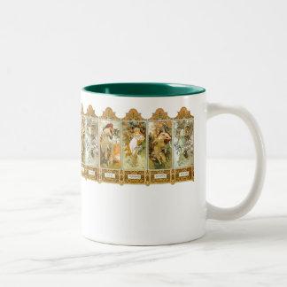 Vintage Mucha Art Nouveau Seasons Mug