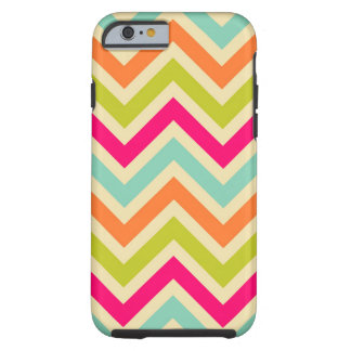 Vintage Multicolor Chevron Tough iPhone 6 Case