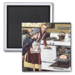 Vintage Mum in the Kitchen Cooking Easter Ham Magnets