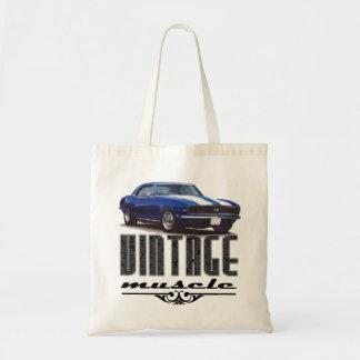 Vintage Muscle Blue Camaro Tote Bag