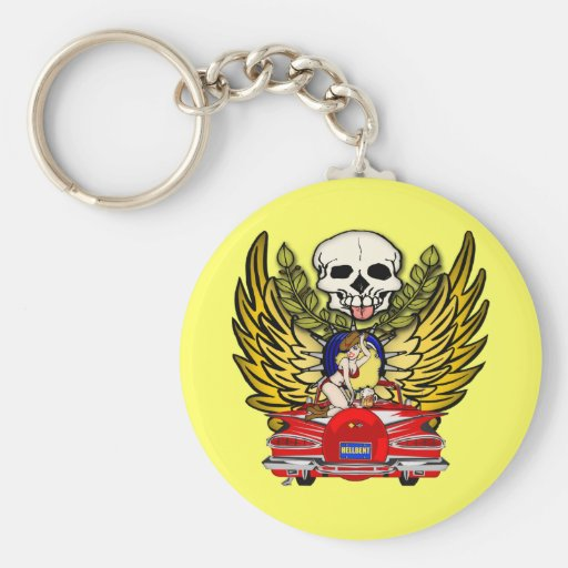 Vintage Muscle Car Keychain