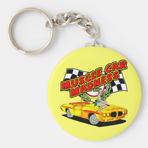 Vintage Muscle Car Madness Keychain