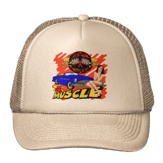 Vintage Muscle Car T-shirts and Gifts Trucker Hats