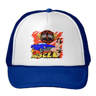 Vintage Muscle Car T-shirts and Gifts Mesh Hats