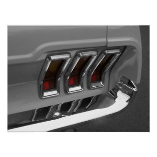 Vintage Muscle Car Tail Lights Poster