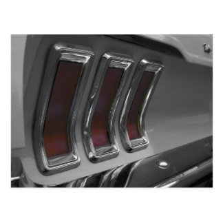Vintage Muscle Car Taillights Postcard
