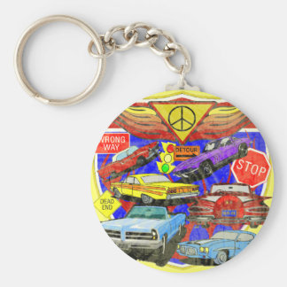 Vintage Muscle Cars Of Yesterday Key Chain