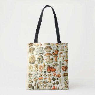 Vintage Mushroom Encyclopedia Print Tote Bag