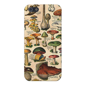 Vintage Mushroom Guide iPhone 4 Speck Case iPhone 5 Cover