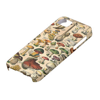Vintage Mushroom Guide iPhone 5 Case-Mate iPhone 5 Cover