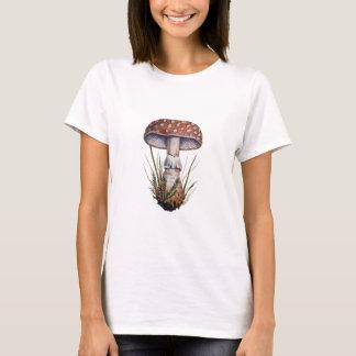 Vintage Mushroom  Print Fly Amanita T-Shirt