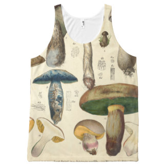 Vintage Mushrooms Toadstools Illustrations Shirt