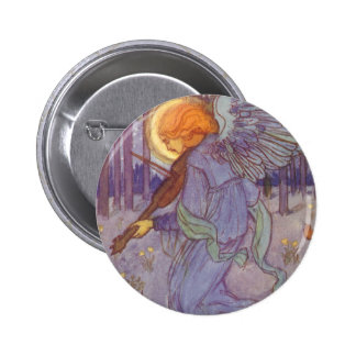 Vintage Music Angel Playing Violin in the Forest Pin