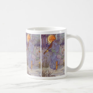 Vintage Music, Angel Playing Violin in the Forest Coffee Mug