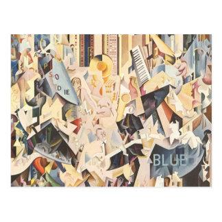 Vintage Music, Art Deco Jazz, Rhapsody in Blue Postcard