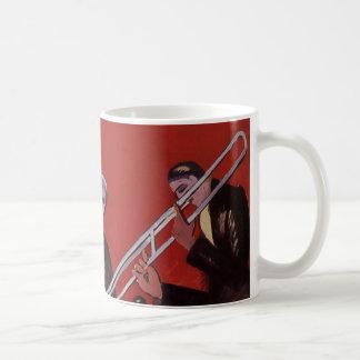Vintage Music, Art Deco Musical Jazz Band Jamming Coffee Mug