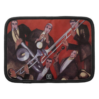 Vintage Music, Art Deco Musical Jazz Band Jamming Planners