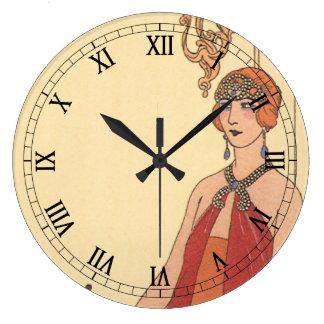 Vintage Music, Art Deco Pianist Musician Singer Wall Clocks