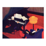 Vintage Music Art Deco Pianist Piano Player Lounge Postcard