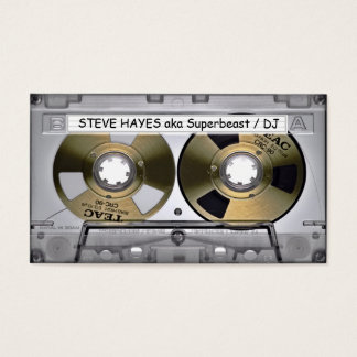 Vintage Music Cassette Tape Look Business Card