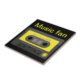 Vintage music cassette with rainbow tape tile