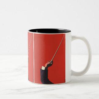 Vintage Music, Conductor's Hand Holding a Baton Coffee Mug