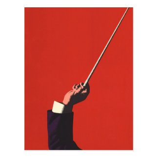 Vintage Music, Conductor's Hand Holding a Baton Postcard