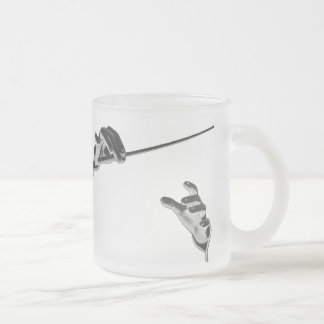 Vintage Music, Conductor's Hands with a Baton Frosted Glass Coffee Mug