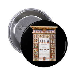 Vintage Music Egyptian Aida Opera by Verdi Pinback Button