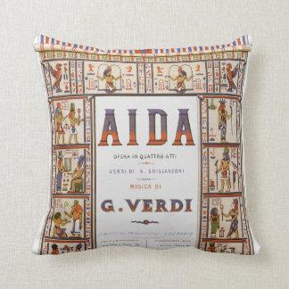 Vintage Music, Egyptian Aida Opera by Verdi Throw Pillow