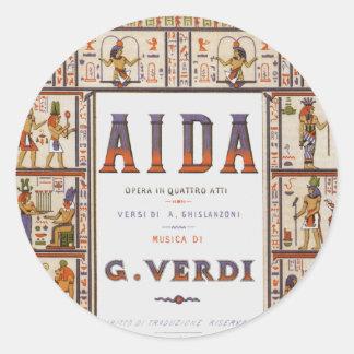 Vintage Music, Egyptian Aida Opera by Verdi Stickers