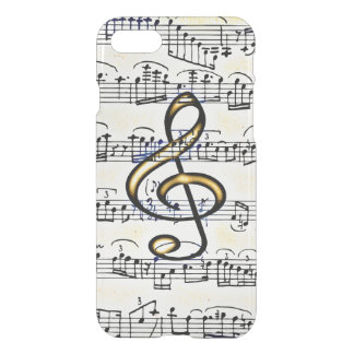 Vintage Music Gold Color Treble Clef iPhone 7 Case