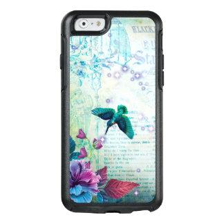 Vintage Music Hummingbird lavender teal mauve blue OtterBox iPhone 6/6s Case