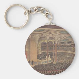 Vintage Music, Jenny Lind, Swedish Opera Singer Basic Round Button Key Ring