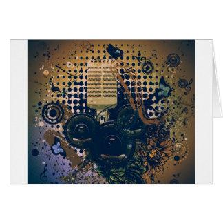 Vintage Music Microphone2 Card