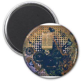 Vintage Music Microphone2 Magnet