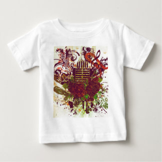 Vintage Music Microphone Baby T-Shirt