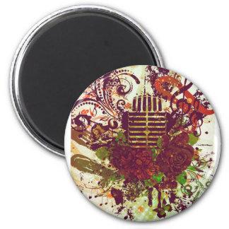 Vintage Music Microphone Magnet